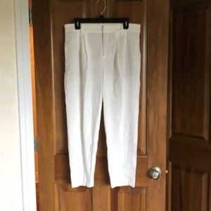 Vince. High Waisted Cropped Linen Pants sz 6